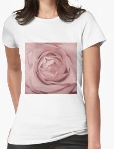 pink rose grunge stile Womens Fitted T-Shirt