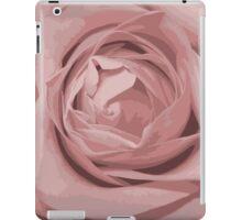 pink rose grunge stile iPad Case/Skin