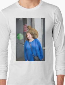 Barbary macaques in Gibraltar Long Sleeve T-Shirt