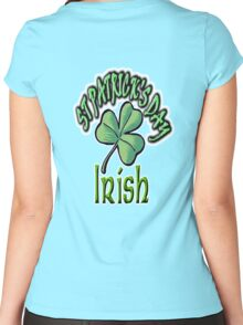 Saint Patrick's Day, Irish, Eire, Ireland, USA, Lucky Clover, Luck Women's Fitted Scoop T-Shirt