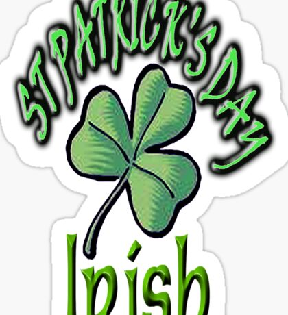 Saint Patrick's Day, Irish, Eire, Ireland, USA, Lucky Clover, Luck Sticker