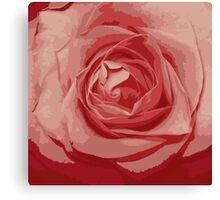 pink rose grunge stile Canvas Print
