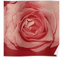 pink rose grunge stile Poster