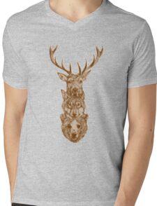 hipster totem Mens V-Neck T-Shirt