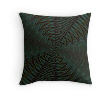 Abstract Teal and Brown Orbit Throw Pillow