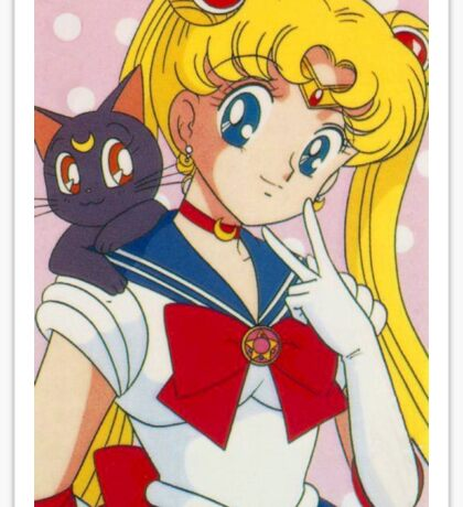 Sailor moon & Luna Sticker