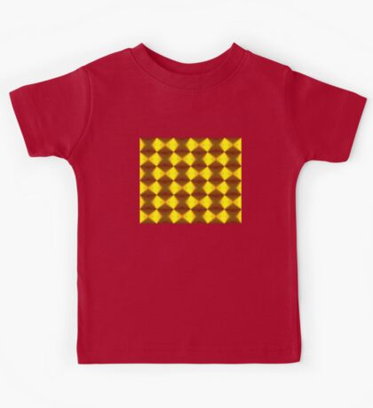 Bold Red, Green and Gold Repeating Pattern Kids Tee