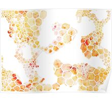 Honeycomb hexagons repeating pattern Poster