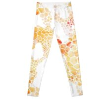 Honeycomb hexagons repeating pattern Leggings