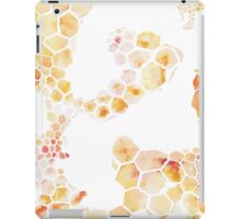 Honeycomb hexagons repeating pattern iPad Case/Skin