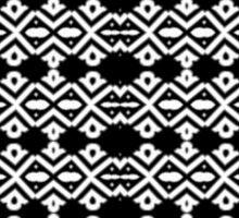 Arrows and Diamond Black and White Pattern 2 Sticker