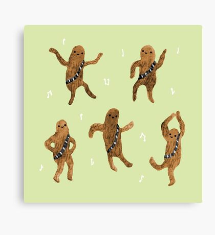 Wookie Dance Party Canvas Print