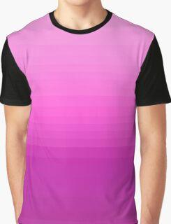 Chic Purple Ombre Gradient Stripes Pattern Graphic T-Shirt