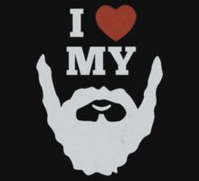 Funny I Heart Love My Beard by Junioraska