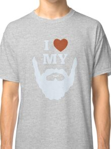 Funny I Heart Love My Beard Classic T-Shirt