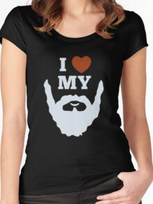 Funny I Heart Love My Beard Women's Fitted Scoop T-Shirt