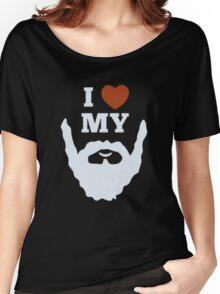 Funny I Heart Love My Beard Women's Relaxed Fit T-Shirt