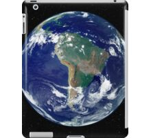 Fully lit Earth centered on South America. iPad Case/Skin