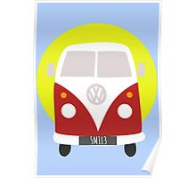 VW Campervan Red Poster