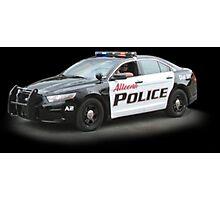 Police Car #1 Photographic Print