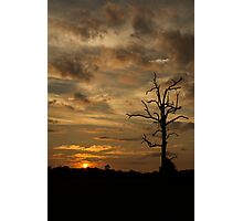 Sunset : Peach Glow Photographic Print