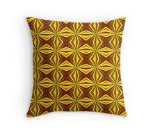 Red and Gold Christmas Abstract Throw Pillow