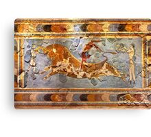 Minoan Times - Dancing with the bulls Canvas Print
