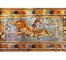 Minoan Times - Dancing with the bulls Photographic Print