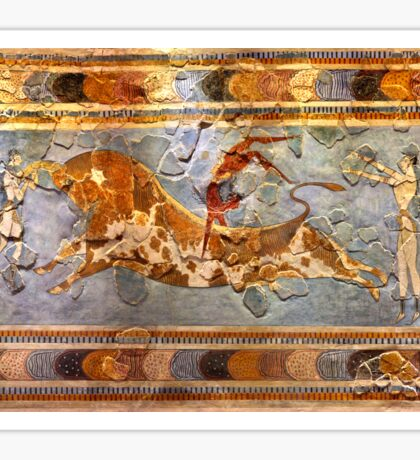 Minoan Times - Dancing with the bulls Sticker