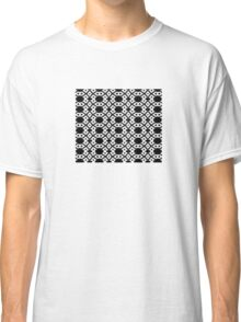 Arrows and Diamond Black and White Pattern 3 Classic T-Shirt