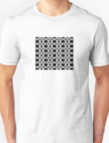 Arrows and Diamond Black and White Pattern 3 Unisex T-Shirt
