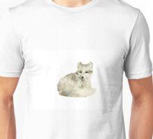 Arctic fox watercolor art print painting Unisex T-Shirt