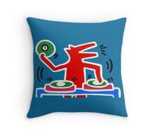 DJ HARING Throw Pillow