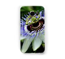 Blue Crown Passion Flower Samsung Galaxy Case/Skin