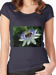 Blue Crown Passion Flower Women's Fitted Scoop T-Shirt