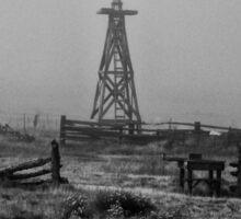 Fog In The Windmill In BW Sticker