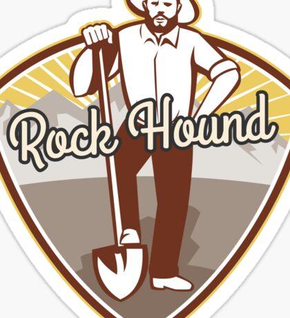 Rockhound Badge Sticker