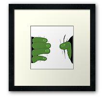 Grabbed by the Hulk Framed Print
