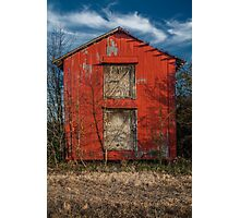 Red Barn: Winter Photographic Print
