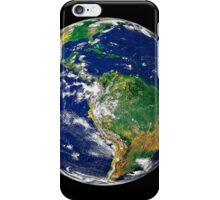 Full Earth showing South America. iPhone Case/Skin