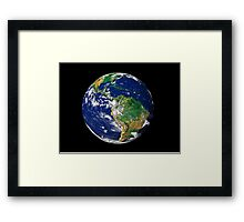 Full Earth showing South America. Framed Print