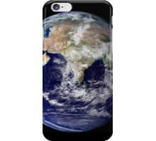 Full Earth showing Europe and Asia. iPhone Case/Skin