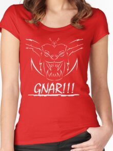 GNAR!!! (white) Women's Fitted Scoop T-Shirt