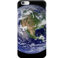 Full Earth showing North America. iPhone Case/Skin