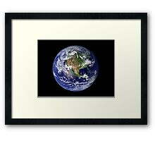 Full Earth showing North America. Framed Print