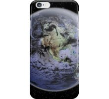 Digitally enhanced image of the Full Earth showing North America. iPhone Case/Skin