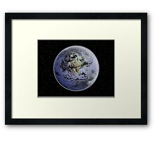 Digitally enhanced image of the Full Earth showing North America. Framed Print