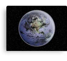 Digitally enhanced image of the Full Earth showing North America. Canvas Print