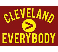 Cleveland > Everybody - Wine & Gold - Go Cavs! Photographic Print