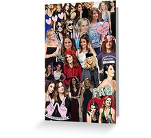 Amy Poehler & Tina Fey Collage Greeting Card